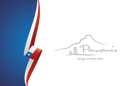 Chile abstract brochure cover poster background vector