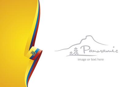 Ecuador abstract brochure cover poster background vector