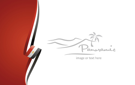 Egypt abstract flag brochure cover poster background vector