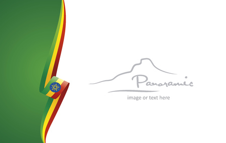 Ethiopia abstract flag brochure cover poster background vector