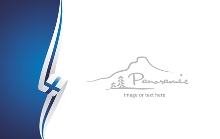 Finland abstract brochure cover poster background vector