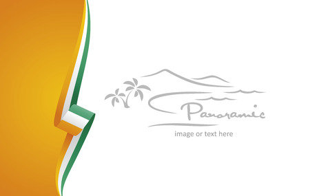 Ivory Coast abstract flag brochure cover poster background vector