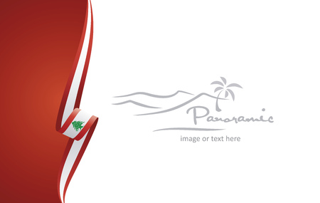 Lebanon abstract brochure cover poster background vector