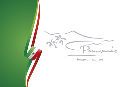 Mexico abstract brochure cover poster background vector