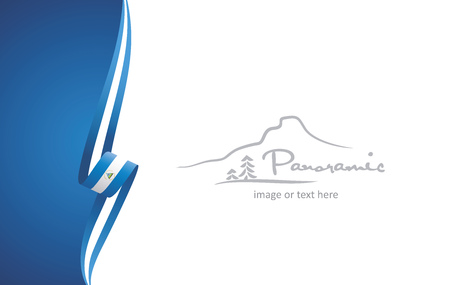 Nicaragua abstract brochure cover poster background vector