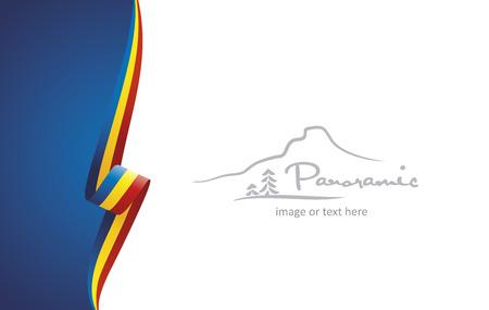 Vector de fondo de cartel de portada de folleto abstracto de Rumania Ilustración de vector