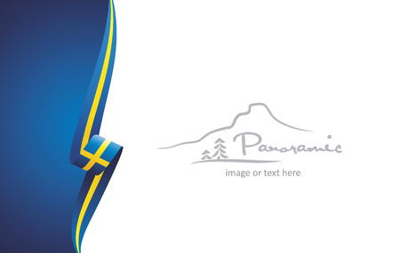 Sweden abstract brochure cover poster background vector Illustration
