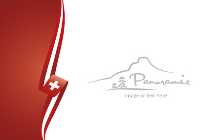 Switzerland abstract flag brochure cover poster background vector