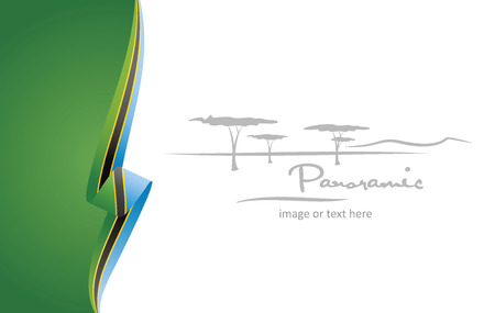 Tanzania abstract flag brochure cover poster background vector Ilustrace