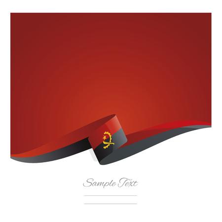 New abstract Angola flag ribbon Illustration