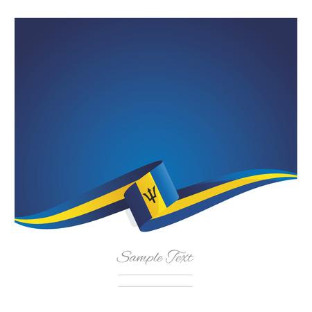 New abstract Barbados flag ribbon