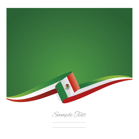 New abstract Mexico flag ribbon