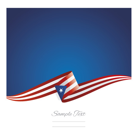 New abstract Puerto Rico flag ribbon Illustration