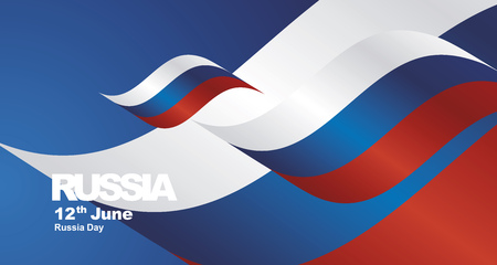 Russia National Day flag ribbon landscape background.jpg