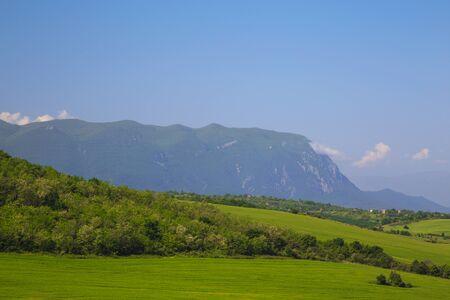 the balkan: Western slopes of Vratsa Balkan mountains, Bulgaria. Stock Photo