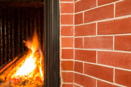 chimney corner: Chimenea, detalle del interior de una casa.