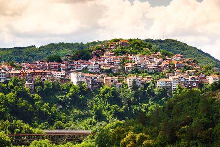 veliko: View from old town of Veliko Tarnovo, Bulgaria.