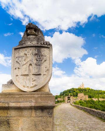 veliko: The main entrance to the Tzarevetz fortress at Veliko Turnovo, Bulgaria.