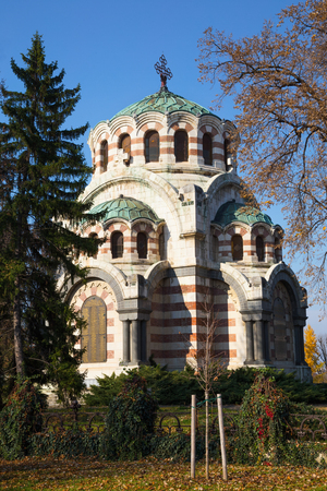 the victorious: The Chapel-mausoleum St. George the Victorious, Pleven, Bulgaria. In memory of the perished Russian and Romanian warriors in the battles at Pleven, Russo-Turkish war for the liberation of Bulgaria