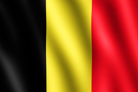 undulating: Flag of Belgium waving in the wind giving an undulating texture of folds in the fabric. The Image is in the official ratio of the flag - 2:3.