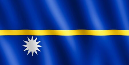 undulating: Flag of Nauru waving in the wind giving an undulating texture of folds in the fabric.. Stock Photo