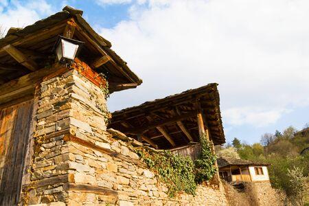 real renaissance: Old stone house in Leshten, Bulgaria, a mountainous village in the Rhodope mountains