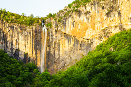 intermittent: Skaklya is the highest waterfall on Balkan Peninsula - 141 meters. Skaklya is intermittent flowing waterfall - only during snow melt and rains. Located nearly the town of Vratsa, Bulgaria.