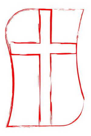 protestantism:  Church Cross Symbol of Christianity Illustration