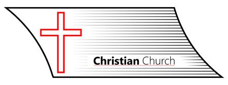 Church Cross Symbol of Christianity Vettoriali