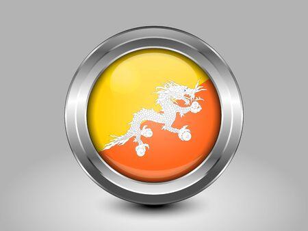 bhutan: Flag of Bhutan Stock Illustratie