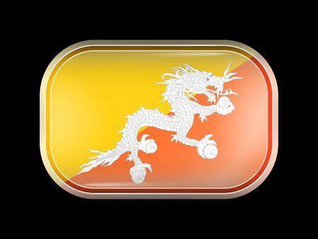 bhutan: Flag of Bhutan Illustration