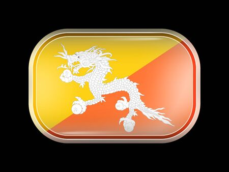 bhutan: Bhutan Variant First Flag Illustration