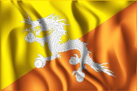 variant: Bhutan Variant First Flag Illustration