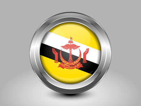 shiny buttons: Flag of Brunei