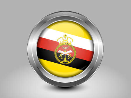 ensign: Brunei Army Ensign. Metal Round Icons. This is File from the Collection Asian Flags