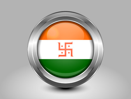 jain: India Jain Variant Flag. Metal Round Icons. This is File from the Collection Asian Flags