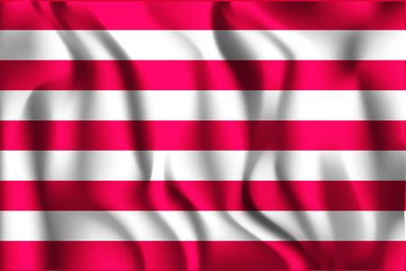 ensign: Indonesia Variant Flag Naval Ensign. Rectangular Shape Icon with Wavy Effect Illustration