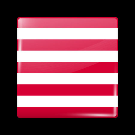 ensign: Indonesia Variant Flag Naval Ensign. Glassy Icon Square Shape. This is File from the Collection Flags of Asia