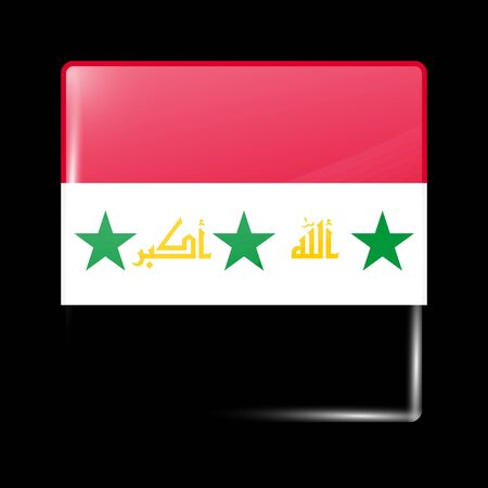 proposed: Proposed Flag of Iraq. Glassy Icon Square Shape. This is File from the Collection Flags of Asia