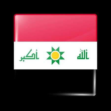 residential district: Proposed Flag of Iraq. Glassy Icon Square Shape. This is File from the Collection Flags of Asia