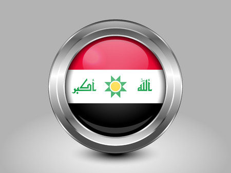 proposed: Proposed Flag of Iraq. Metal Round Icons. This is File from the Collection Asian Flags
