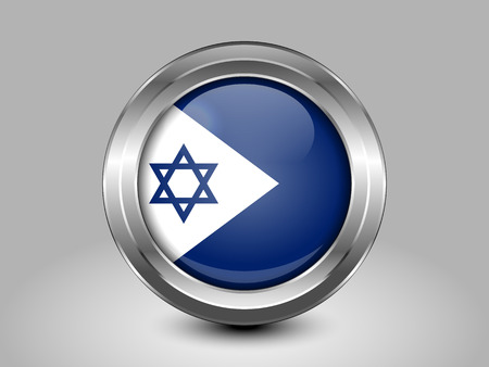 zion: Israel Variant Flagl. Metal Round Icons. This is File from the Collection Asian Flags