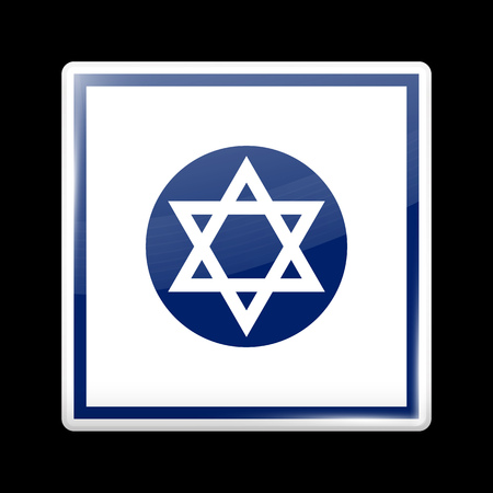 variant: Israel Variant Flag. Glassy Icon Square Shape. This is File from the Collection Flags of Asia