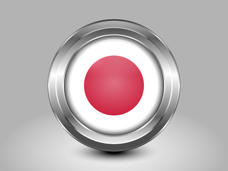 hinomaru: Flag of Japan. Metal Round Icons. This is File from the Collection Asian Flags