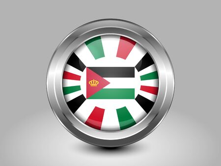 variant: Jordan Variant Flag. Metal Round Icons. This is File from the Collection Asian Flags