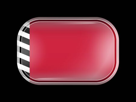 variant: Maldives Variant Flag. Rectangular Shape with Rounded Corners. This Flag is One of a Series of Glass Buttons
