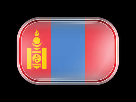residential district: Flag of Mongolia. Rectangular Shape with Rounded Corners. This Flag is One of a Series of Glass Buttons