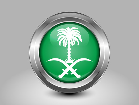variant: Saudi Arabia Variant Flag. Metal Round Icons. This is File from the Collection Asian Flags