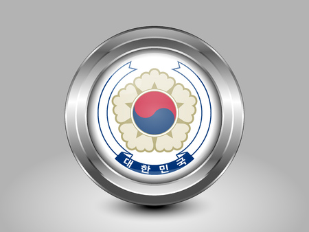south asian: South Korea Variant Flag. Metal Round Icons. This is File from the Collection Asian Flags