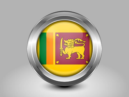sri lankan flag: Flag of Sri Lanka. Metal Round Icons. This is File from the Collection Asian Flags